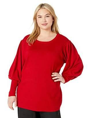City Chic Women's Apparel Women's Plus Size Solid Knit Jumper