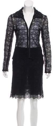 Guipure Lace Skirt Suit