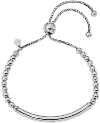 ING Italian Silver Adjustable Beaded Bracelet Sterling, 7.4g