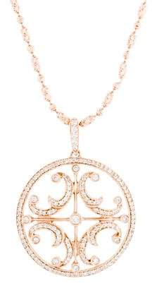 14K Diamond Medallion Pendant Necklace