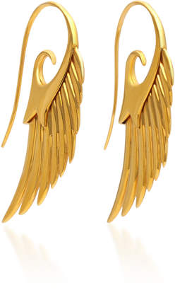 Fly London Noor Fares Me To The Moon 18K Gold Earrings