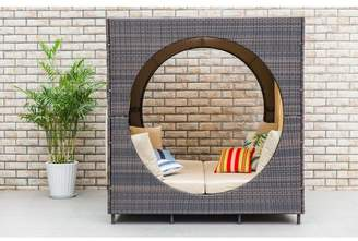 Brayden Studio Chessani Cube Patio Daybed with Cushions