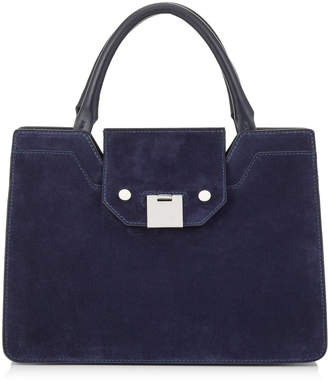 Jimmy Choo REBEL TOTE/S Navy Suede Tote Bag
