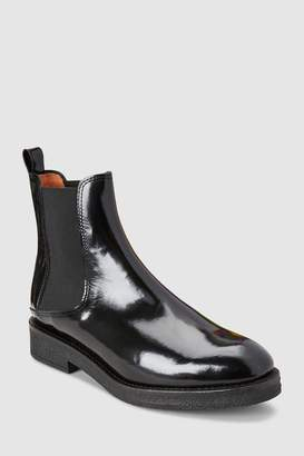 Next Womens Whistles Black Rubber Sole Chelsea Boot