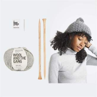 Wool & The Gang Wool and the Gang Happy Daze Beanie Knitting Kit Tweed Grey