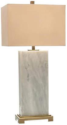 John-Richard Collection Marble Slab Table Lamp - White