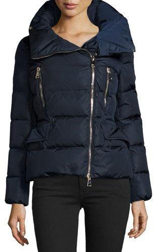 MonclerMoncler Talia Asymmetric-Zip Puffer Jacket, Navy