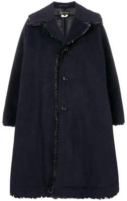 Comme des Garcons oversized ruffle trim coat