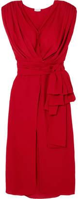 Magda Butrym Diablo Gathered Silk-chiffon Midi Dress
