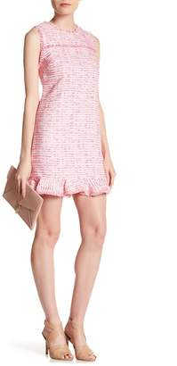Cynthia Steffe CeCe by Brie Clipped Tweed Ruffle Hem Dress
