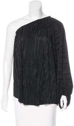 L'Agence Textured One-Shoulder Top