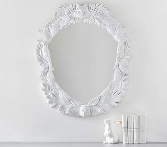 Pottery Barn Kids Woodland Carved Mirror