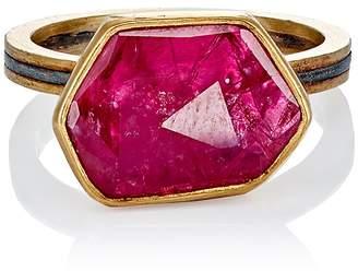 Judy Geib Women's Ruby Slice & Pavé Ring