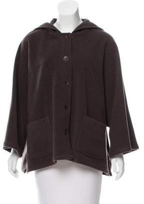 Eileen Fisher Wool Hooded Jacket