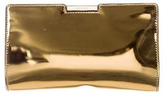 Milly Metallic Leather Clutch