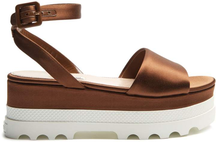 MIU MIU Satin flatform sandals