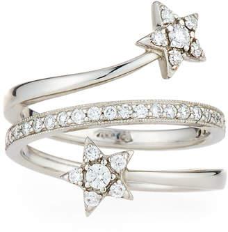 Penny Preville 18k Diamond Leaf Twist Ring, Size 6
