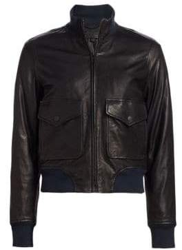 Rag & Bone Mila Leather Bomber Jacket