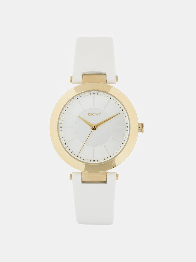 DKNY Stanhope White Leather Watch
