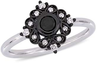 Black Diamond Concerto 10K White Gold, 0.33 CT. T.W. Diamond Bohemian Ring