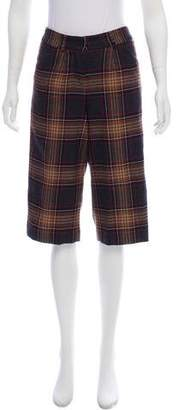 Dolce & Gabbana Wool Plaid Cropped Pants