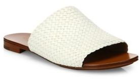 Michael Kors Collection Byrne Woven Leather Slides