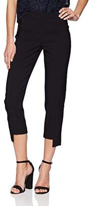 Nanette Lepore Nanette Women's Crop Stepped Hem Skinny Fit Pant
