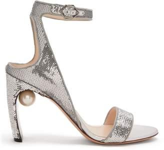 Nicholas Kirkwood Lola faux-pearl sequin-embellished sandals