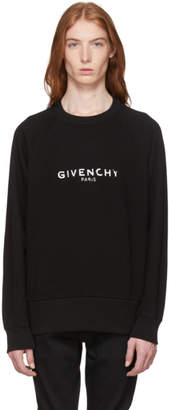 Givenchy Black Vintage Fit Logo Sweatshirt