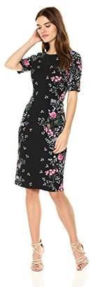 Adrianna Papell Women's Printed Sheath Midi Dress