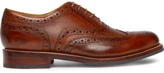 Grenson Stanley Cross-Grain Leather Wingtip Brogues