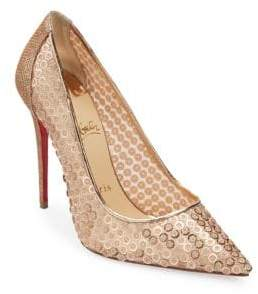 Christian Louboutin Lace 100 Leather Pumps