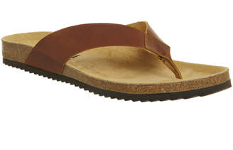 01213422f01c Office Darwin Thong Sandals Brown Leather