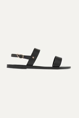 Ancient Greek Sandals Clio Leather Sandals - Black