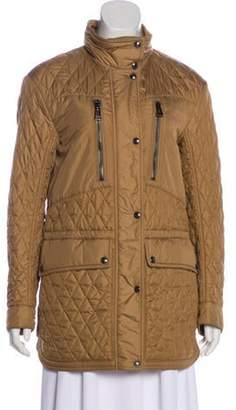 Belstaff Quilted Short Coat Tan Quilted Short Coat