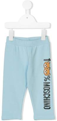 Moschino Kids Teddy logo print track pants