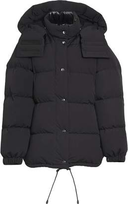 Burberry Detachable Hood and Sleeve Down-filled Puffer Jacket