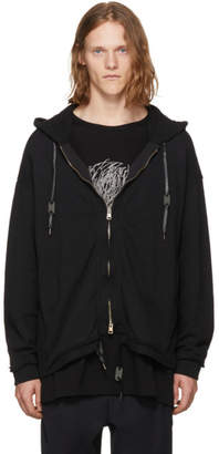 Diet Butcher Slim Skin Black Pigment-Dyed Zip Hoodie