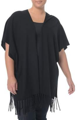 NYDJ Fringe Sweater Wrap