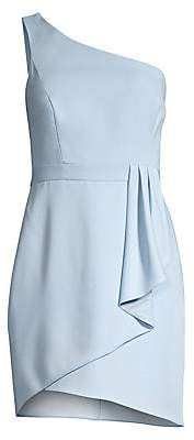 BCBGMAXAZRIA Women's One-Shoulder Satin Cocktail Dress