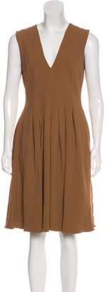 Rochas Sleeveless Knee-Length Dress