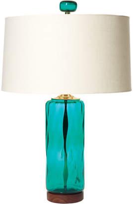 Rejuvenation Peacock Cylinder Table Lamp