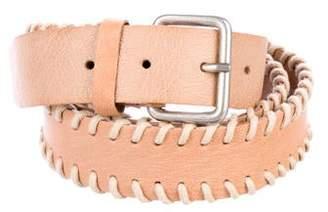 Ann Demeulemeester Leather Buckle Belt