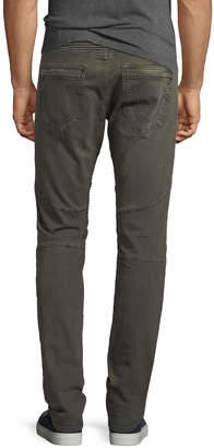 True Religion Rocco Moto Slim-Straight Jeans