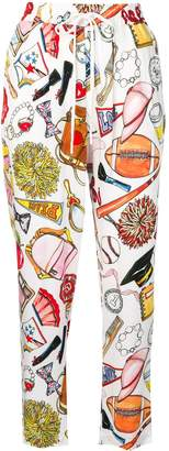 Love Moschino printed cropped trousers