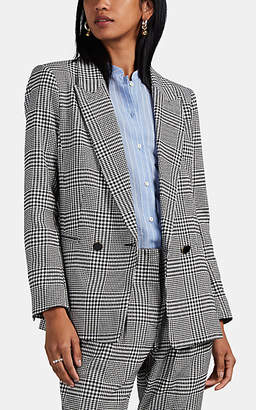Icons Objects of Devotion Women's Glen Plaid Cotton-Blend Double-Breasted Blazer