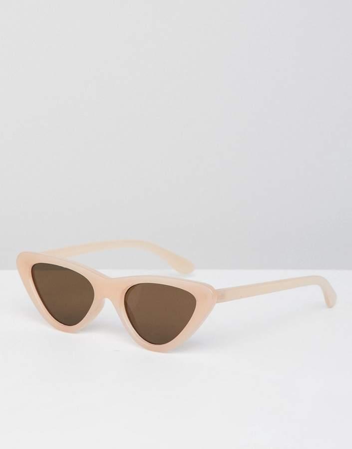 Bershka cat eye sunglasses in light pink