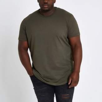 River Island Big and Tall khaki T-shirt