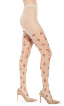 Nordstrom Sheer Floral Intarsia Tights