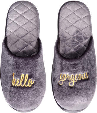 INC International Concepts I.n.c. Hello Gorgeous Velour Scuff Slippers, Created for Macy's
